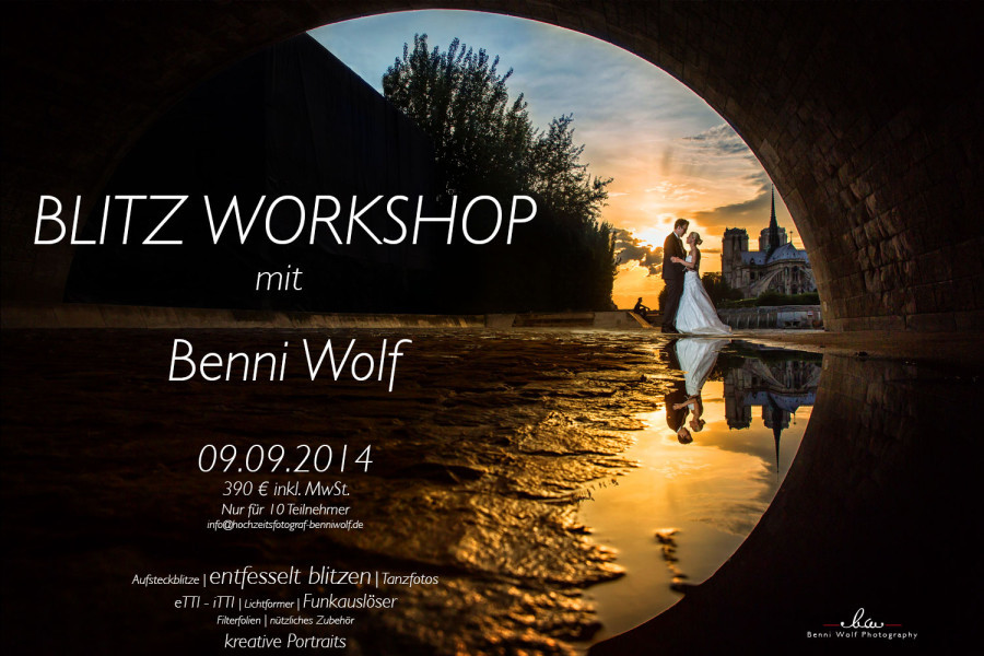 Neuer Workshop: Kreatives Blitzen im September